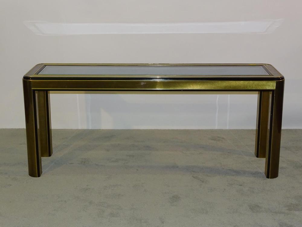 MASTERCRAFT BRASS CONSOLE TABLE