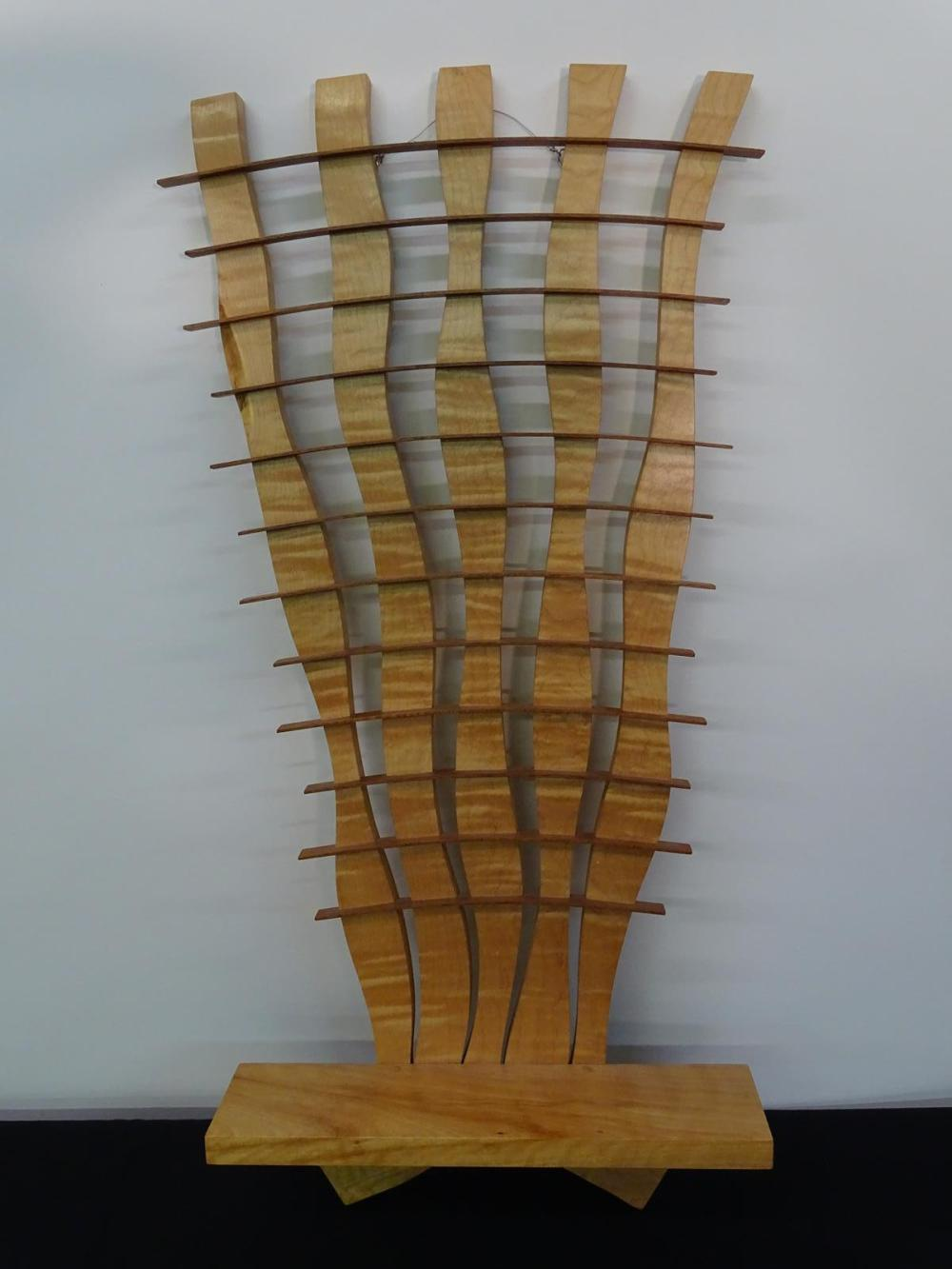 CURLY MAPLE WALL CURIO
