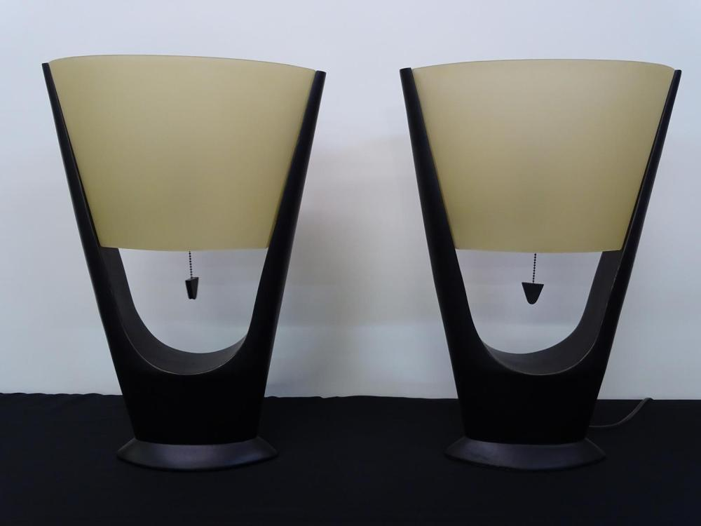 CONTEMPORARY TABLE LAMP PAIR