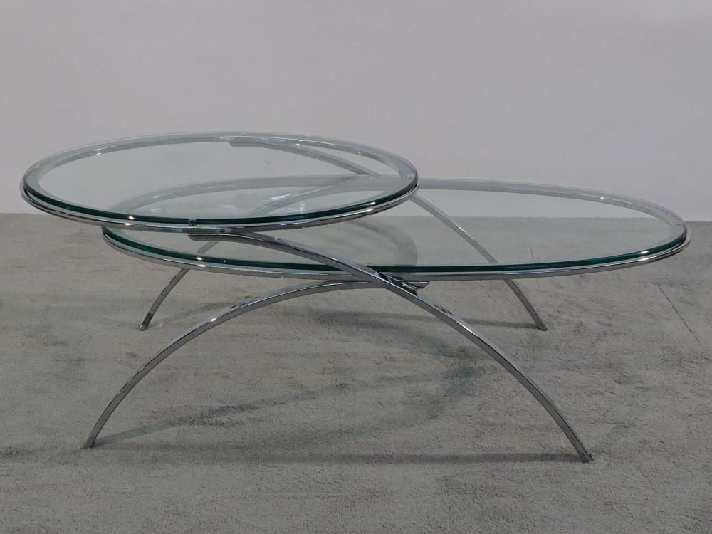 CHROME TIERED COFFEE TABLE