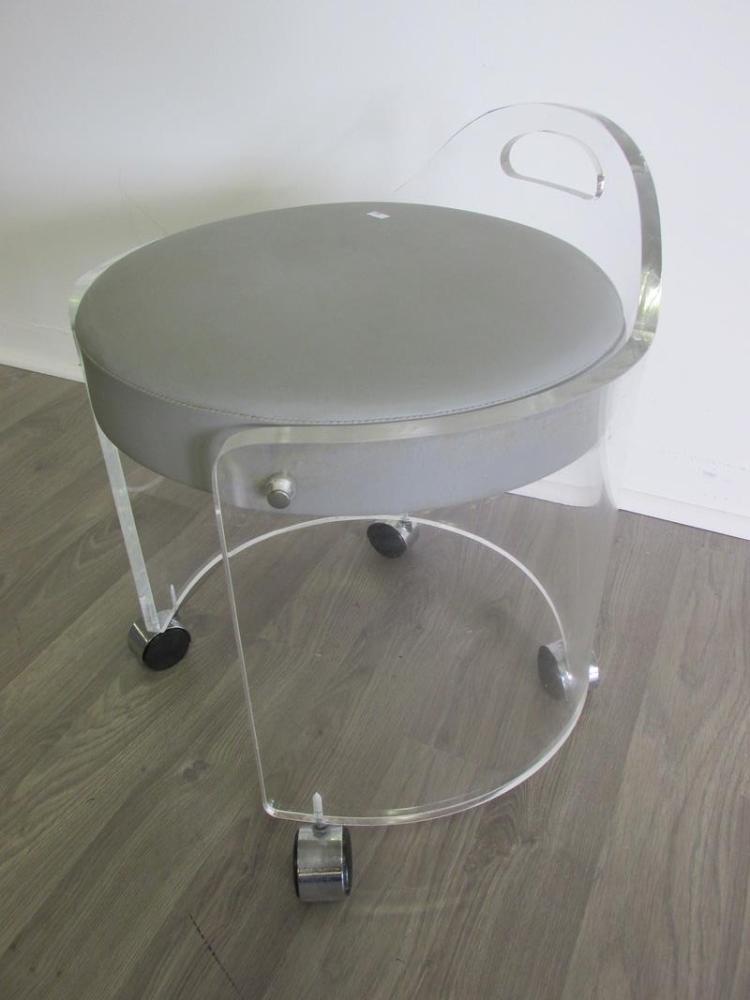 Bathroom vanity stool with casters bathroom vanity stool chrome bathroom home design - Vanity chair with wheels ...