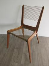 JACQUES GUILLON CORD CHAIR, CANADA, 1954