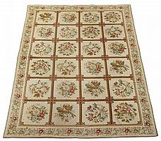 English needlepoint carpet, circa 1900,
