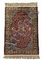 Silk Keyseri rug, west anatolia, circa mid 20th century,