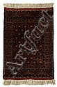 Partial silk Afghan rug, circa 3rd quarter 20th century,