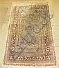 Silk Hereke rug, west anatolia, 20th century,
