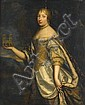 ATTRIBUTED TO CHARLES BEAUBRUN & HENRÍ BEAUBRUN, (FRENCH 1604-1692, FRENCH 1603-1677), PORTRAIT OF A NOBLE LADY HOLDING A MODEL OF CATH