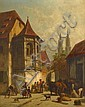 JACQUES FRANCOIS CARABAIN, (BELGIAN 1834-1933), CONTINENTAL STREET SCENE
