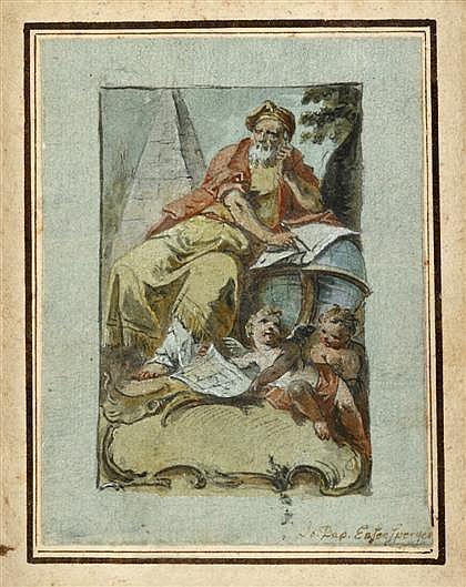 JOHANN BAPTIST ENZESBERGER, (GERMAN 1733-1773), PERSONIFICATION OF THE LIBERAL ARTS