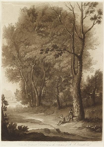 RICHARD EARLOM, (BRITISH 1743-1822), 12 MEZZOTINTS PRINTED IN SEPIA FROM