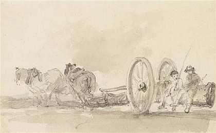 JOHN CONSTABLE, (BRITISH 1776-1837), CARTING TIMBER