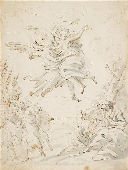 ATTRIBUTED TO ANTONIO CRESPI, (ITALIAN BORN CIRCA 1704-1781), THE ANNUNCIATION