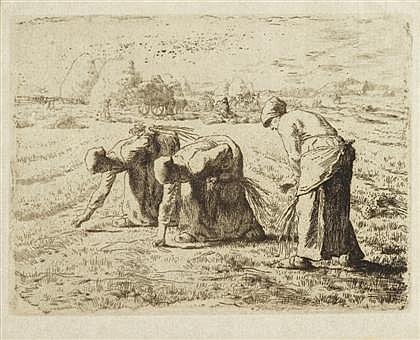 JEAN FRANÇOIS MILLET, (FRENCH 1814-1875), LES GLANEUSES