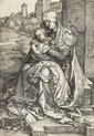 ALBRECHT DÜRER, (GERMAN 1471-1528), THE VIRGIN AND CHILD SEATED BY THE WALL