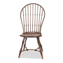 Bowback bamboo style windsor side chair, American, 20th century