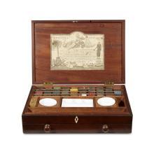 Reeves and Inwood portable artist''s watercolor box, Circa 1800