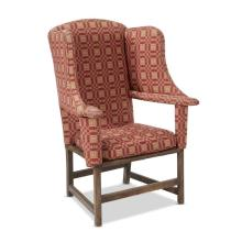 Make-do upholstered wing chair, 20th century