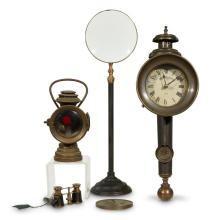 Group of four optical and timekeeping objects, 19th/20th century