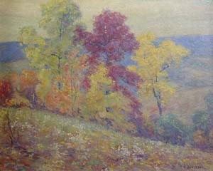 HOMER GORDON DAVISSON (American 1866-1957)  AUTUMN LANDSCAPE