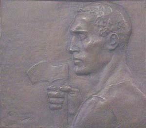 CONSTANTIN EMILE MEUNIER (Belgian 1831-1905) MAN IN PROFILE