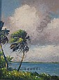 HAROLD NEWTON (AMERICAN 1932-1994) PALM TREES, Harold Newton, Click for value