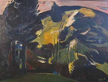 RUDOLF BER (HUNGARIAN 1924-2004) LANDSCAPE