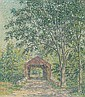 SAMUEL GEORGE PHILLIPS (American 1890-1965)  A COVERED BRIDGE   signed S, Samuel George Phillips, Click for value