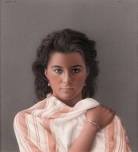 GERARDO PITA, (SPANISH B. 1950), PORTRAIT OF A WOMAN