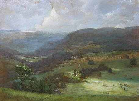 ROBERT MAIONE, (AMERICAN 1932-1987), THE WYE VALLEY