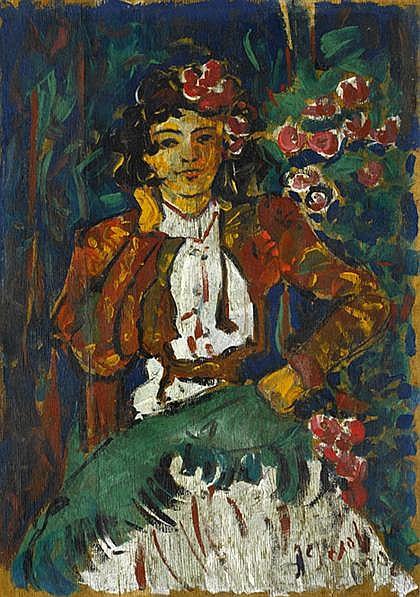 ALEKSANDR YAKOVLEVICH GOLOVIN painting