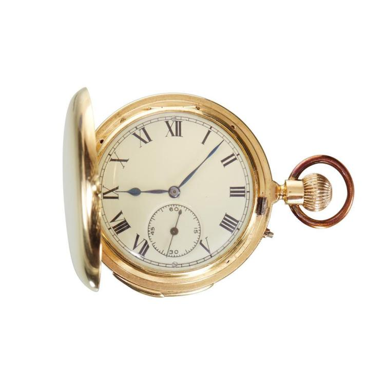 An eighteen karat gold minute repeating pocket watch, A Lange & Padoux, geneva