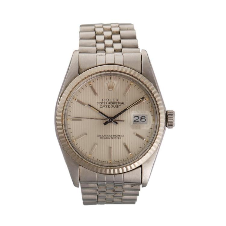 A stainless steel automatic bracelet watch with date, Rolex, datejust