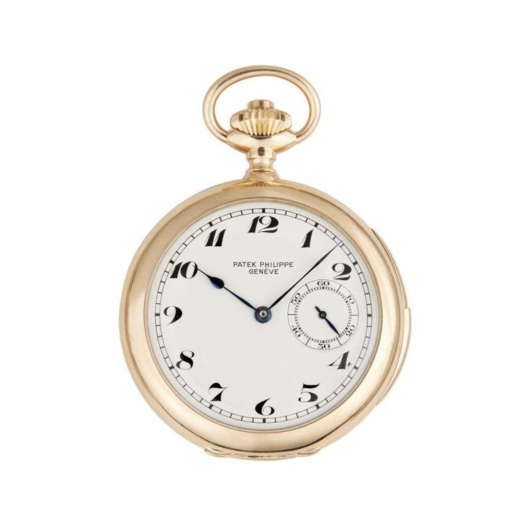 An eighteen karat gold minute repeating pocket watch, Patek Philippe,