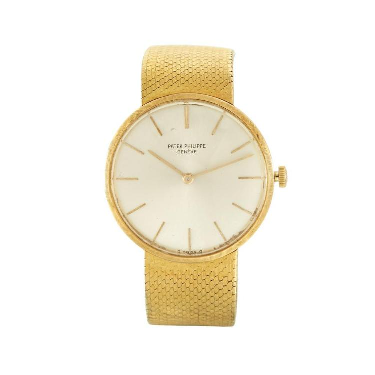 An eighteen karat gold bracelet watch, Patek Philippe,