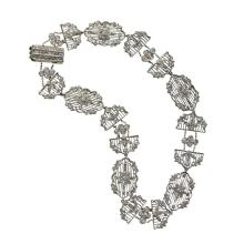 A Belle Époque diamond and platinum choker, circa 1910