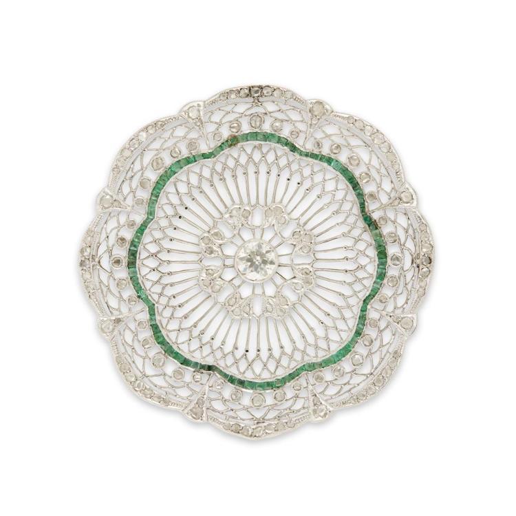 An Art Deco diamond and platinum brooch, circa 1925