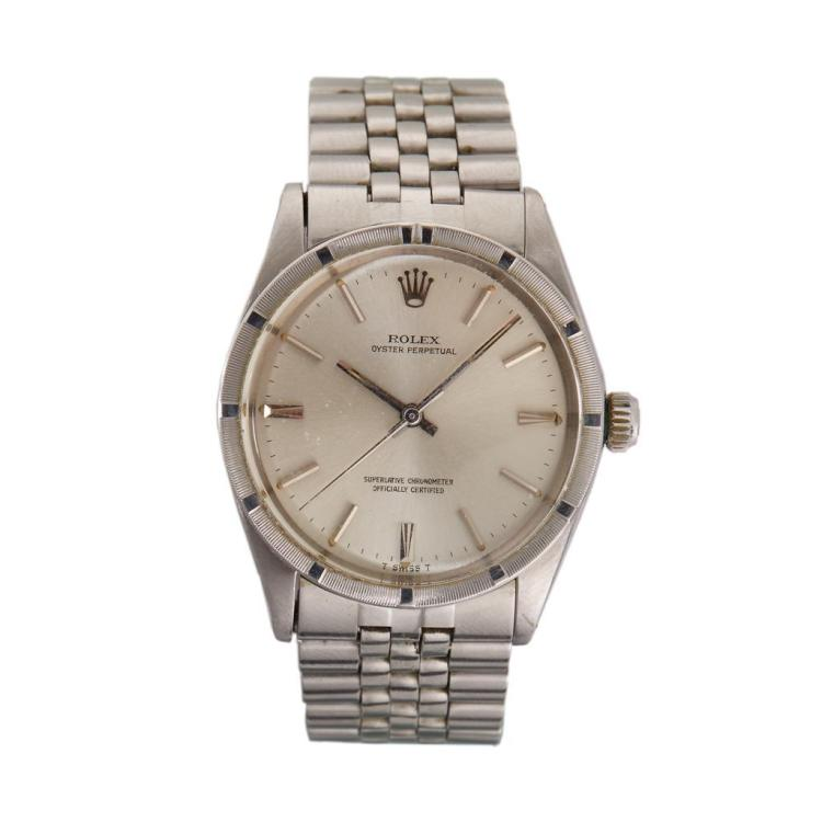 A stainless steel automatic bracelet watch, Rolex, oyster pertual, circa 1965