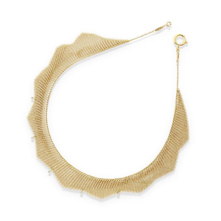 An eighteen karat gold mesh chain, Elsa Peretti, Tiffany & Co.,
