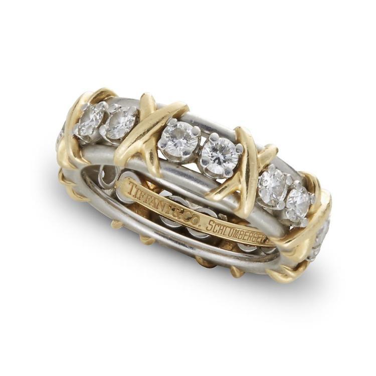 A diamond, platinum and eighteen karat gold band, Schlumberger, Tiffany & Co.,