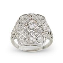 A Belle Époque diamond and platinum ring, circa 1915