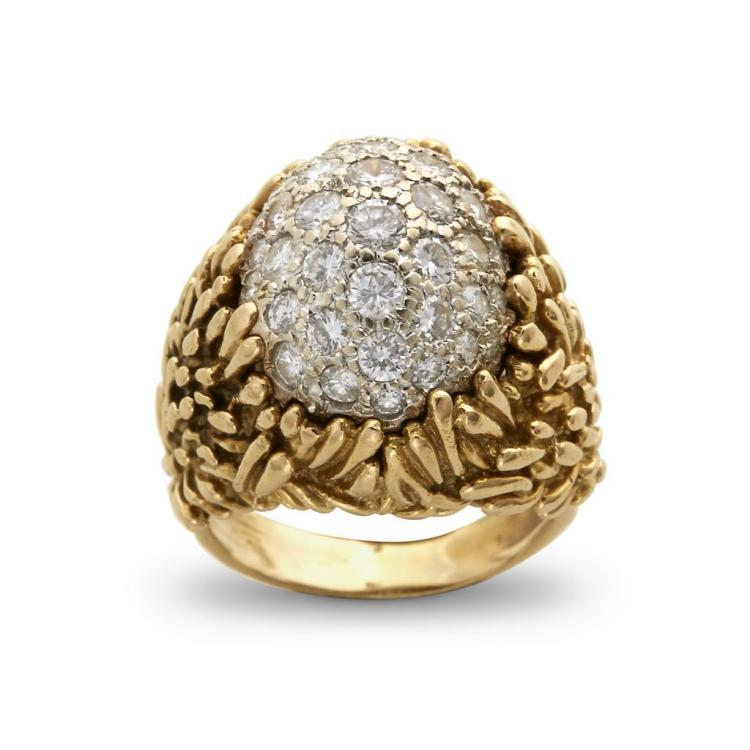 A diamond and eighteen karat gold ring, Hammerman Bros.,