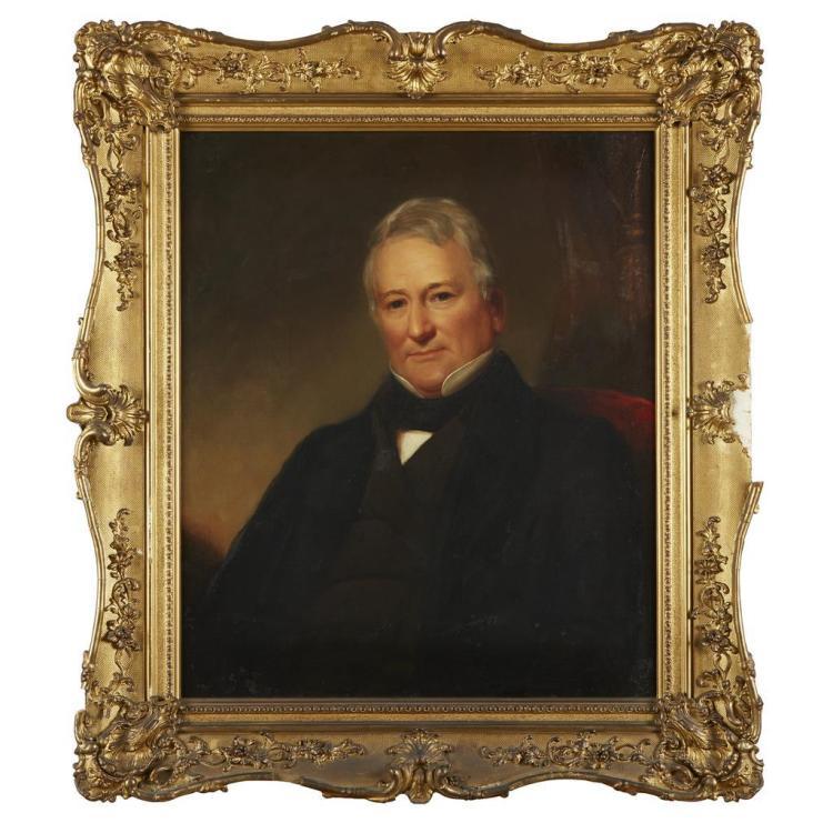 ATTRIBUTED TO GEORGE WASHINGTON CONARROE, (AMERICAN 1802-1884), PORTRAIT OF FIELDING LUCAS, JR.