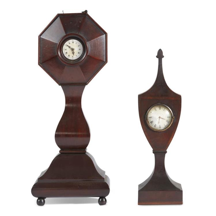 Two American mahogany watch stands, 19th century