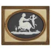 A Wedgwood black jasper plaque, 19th century