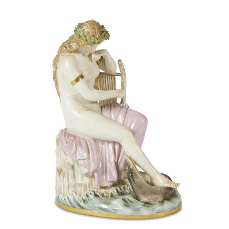 A Meissen porcelain figure, Lorelei, 1815-1860