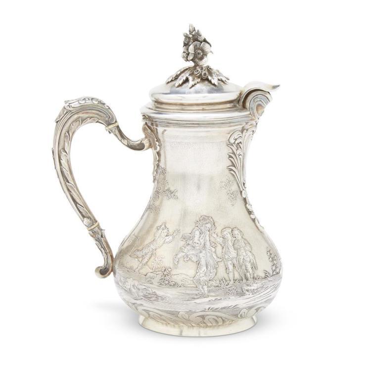 A fine French silver and silver-gilt pitcher in the Louis XV taste, Frédéric Boucheron, Paris, last quarter 19th century