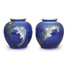 A pair of Royal Copenhagen porcelain jars, circa 1870-1890