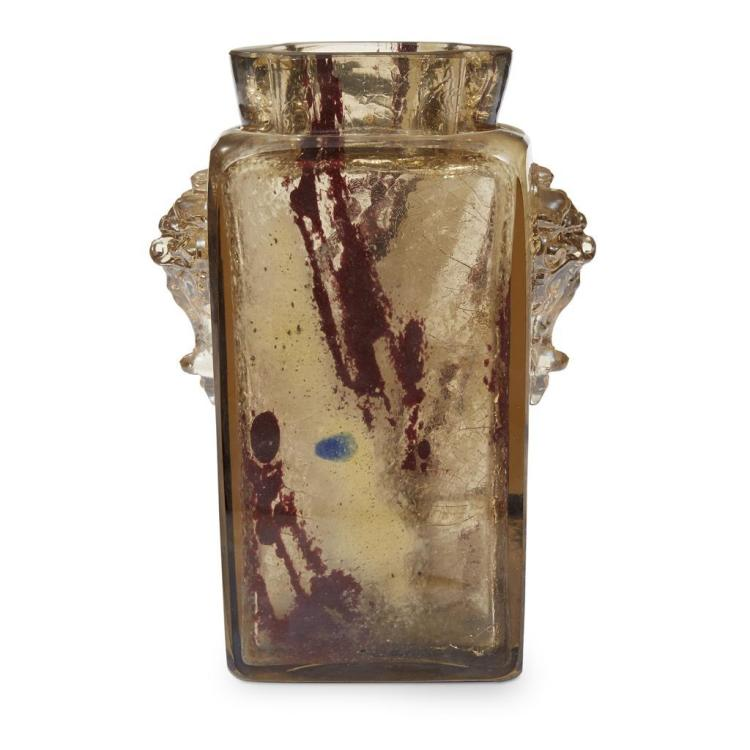 A French Art Deco pâte de verre vase, first quarter 20th century