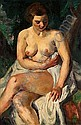 CHARLES KVAPIL, (BELGIAN 1884 - 1957), FEMALE NUDE, Charles Kvapil, Click for value
