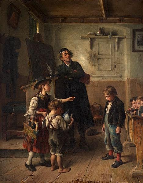 WILHELM SCHÜTZE, (GERMAN 1840 - 1898), THE RECKLESS PUPIL